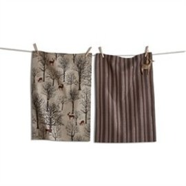EVERGREEN DEER & ORNAMENT TOWEL SET