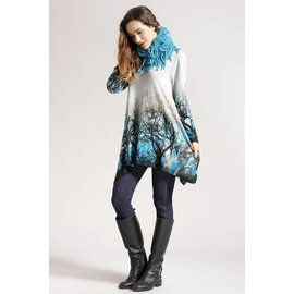 Turquoise Trees Tunic / Scarf