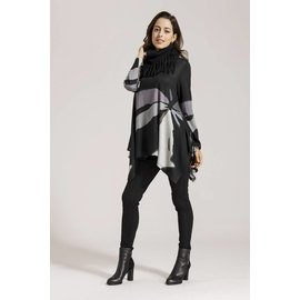 Graphic Greys Tunic / Scarf