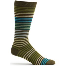 OZONE DESIGN MEN'S OLIVE STRIPED SOCKS