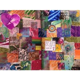 Sept 23 Art Journal Workshop- Patchwork Paper Page