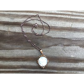 Ornate Copper Mother of Pearl Pendant