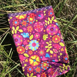 One Of A Kind Handmade Item Very Useful Little Bag #15 Flannel Happy Birds