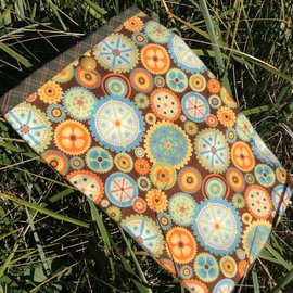 One Of A Kind Handmade Item Very Useful Little Bag #23 Bright Wheels (flannel)