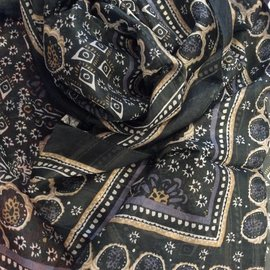 ADELLE CHARCOAL SOFT SILK SCARF