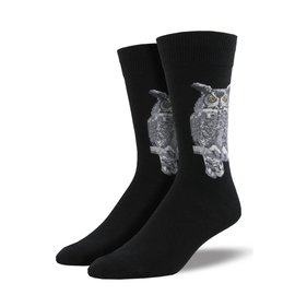 Great Horned OWL MEN'S SOCKS