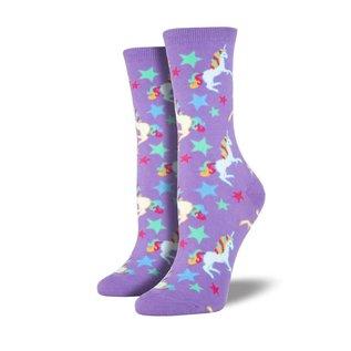 UNICORN WOMEN'S SOCKS - purple