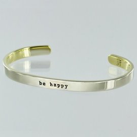 BE HAPPY SKINNY CUFF