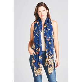 BIRDS ON BRANCHES SCARF