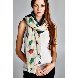 BRIGHT BIRDIES SCARF