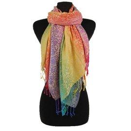 Colorful Paisley Weave Pashmina