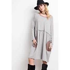 Elbow Patch & Pocket Dress