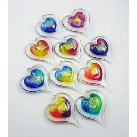 Hand Made Glass Art Heart