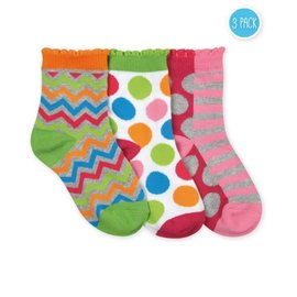 Dots and Stripes 3 Pack Girls' Socks