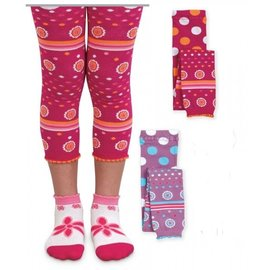 Flower Dots Capri Tights