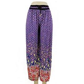 Purple Print Free Size Flowy Pant