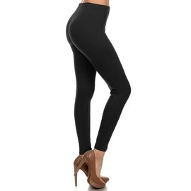 O/S BUTTERSOFT SOLID LEGGINGS  BLACK