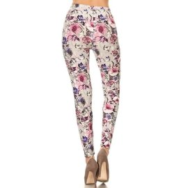 PINK FLOWERS ONE SIZE LEGGING