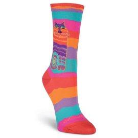 Laurel Burch Rainbow Cat socks