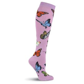 Butterflies on Mauve Knee Socks