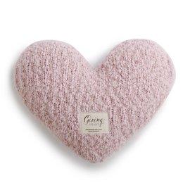 GIVING HEART PILLOW PINK