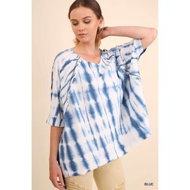 Blues Tie Dye French Terry Top
