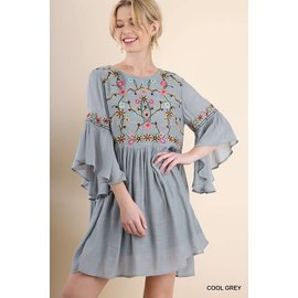 UMGEE ROMANCE DOVE GREY DRESS