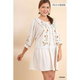 UMGEE Embroidered Boho Plus Dress