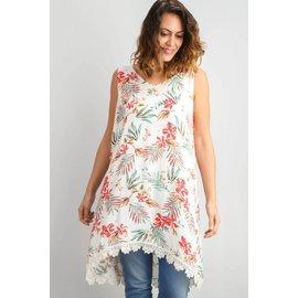 FLORAL & LACE DRESS