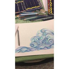 Let's Make Waves - Kate Art Class - June 23