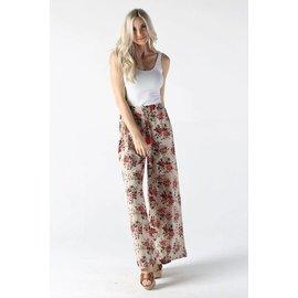 Boho Rose Print Pants