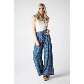 Blue Bali Print Pant