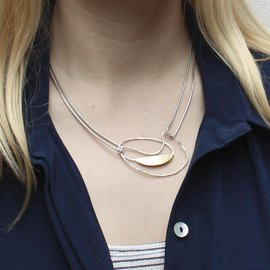 Oval Swoosh Necklace