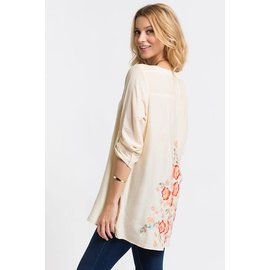 EMBROIDERED BACK BLOUSE