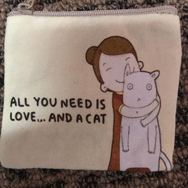 COIN PURSE LOVE AND CAT
