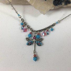 Swarovski Crystal Turquoise Dragonfly Necklace