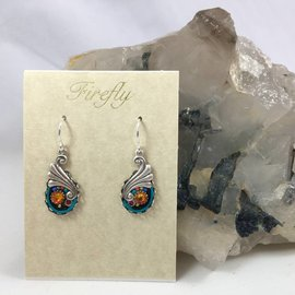 Swarovski Crystal Botanical Swirl Earrings