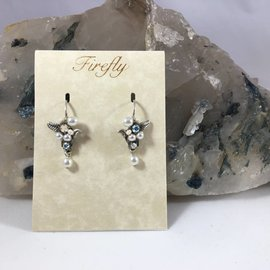 Swarovski Crystal and Glass Pearl Flora Earrings