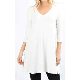Swing Tunic with Pockets - Ivory