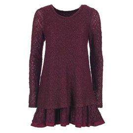 Plum Sweater Lace Tunic