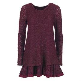 Plum Sweater Lace Tunic