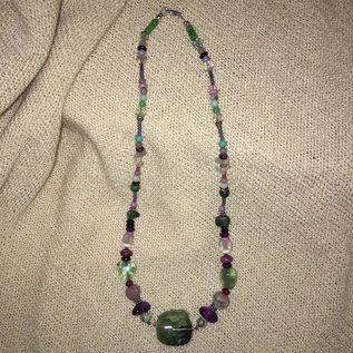 Fluorite Focal Necklace by Kate