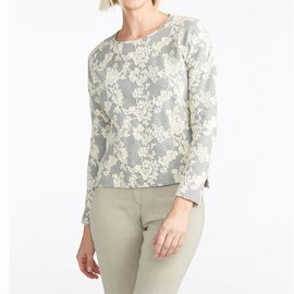 Winter Blooms Tapestry Knit Sweater