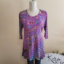 Purple Rainbow Tie Dye Tunic