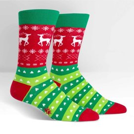 TACKY HOLIDAY SWEATER - MENS CREW SOCK