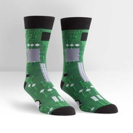 CIRCUIT BOARD - MENS CREW SOCK
