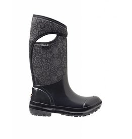 Bogs BOGS PLIMSOLL QUILTED FLORAL TALL  NOIR