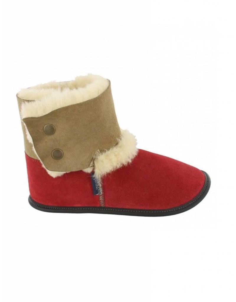 Garneau PAF83106111 GARNEAU REVERSED SHEEPSKIN BOOTIE RED