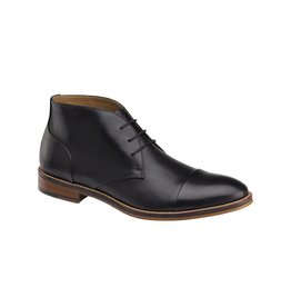 Johnston & Murphy JOHNSTON&MURPHY  CONARD CAP TOE CHUKKA BLACK