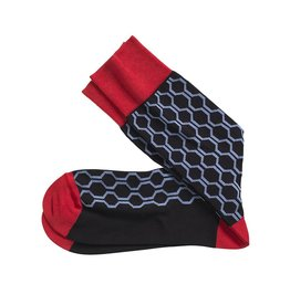 Johnston & Murphy JOHNSTON & MURPHY HONEYCOMB BLACK&RED
